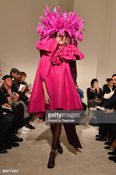 Kaia Gerber walks the runway during the Valentino Spring Summer 2018 show as part of Paris Fashion Week on January 24 2018 in Paris France