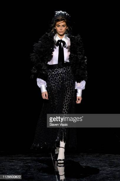 Kaia Gerber walks the runway for the Marc Jacobs Fall 2019 Show at Park Avenue Armory on February 13 2019 in New York City