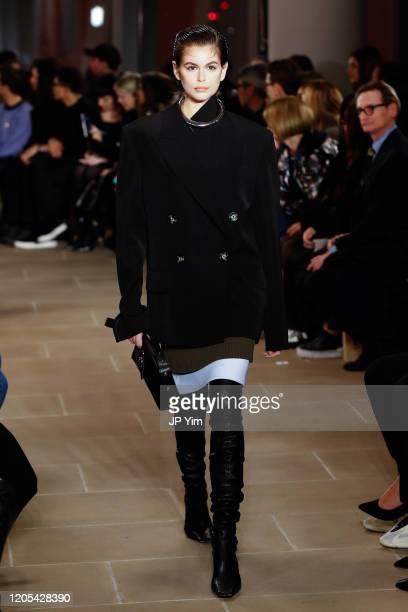 Kaia Gerberwalks the runway for the Proenza Schouler fashion show during February 2020New York Fashion Week The Shows on February 10 2020 in New York...