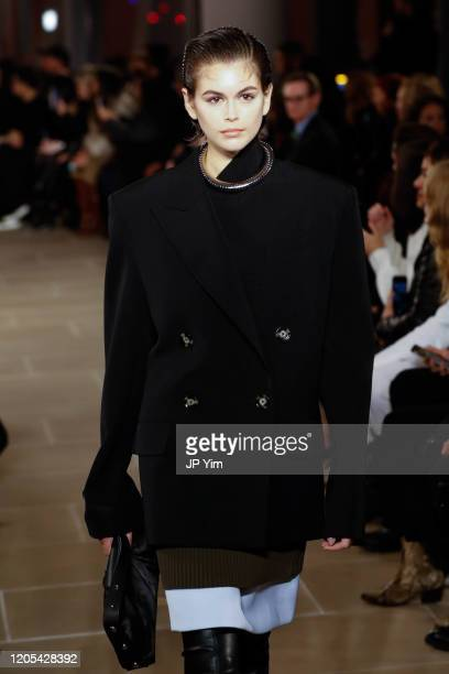 Kaia Gerberwalks the runway for the Proenza Schouler fashion show during February 2020-New York Fashion Week: The Shows on February 10, 2020 in New...