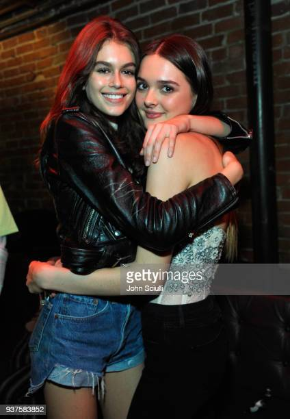 Kaia Jordan Gerber and Charlotte Lawrence attend Spotify's Louder Together event celebrating the first ever collaborative Spotify single with Sasha...