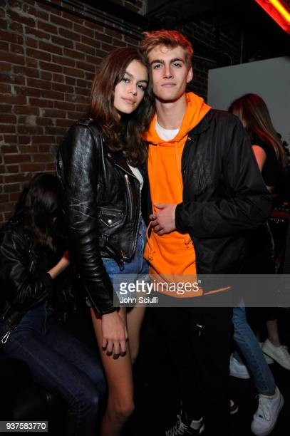 Kaia Jordan Gerber and Presley Walker Gerber attend Spotify's Louder Together event celebrating the first ever collaborative Spotify single with...