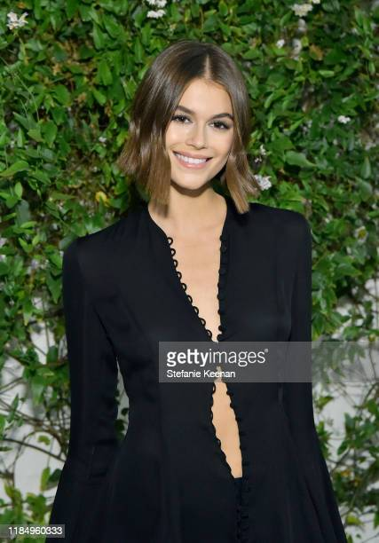 Kaia Jordan Gerber attends A Sense Of Home's First Ever Annual Gala - The Backyard Bowl at a Private Residence on November 01, 2019 in Beverly Hills,...