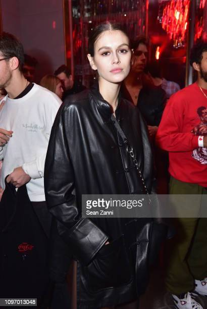 Kaia Jordan Gerber attends Alex Wang's Big Trouble In Little China At The Rainbow Room Powered by Cash App on February 9 2019 at The Rainbow Room in...