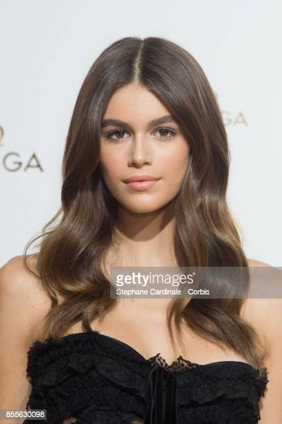 Kaia Jordan Gerber attends the 'Her Time' Omega Photocall as part of the Paris Fashion Week Womenswear Spring/Summer 2018 at on September 29 2017 in...