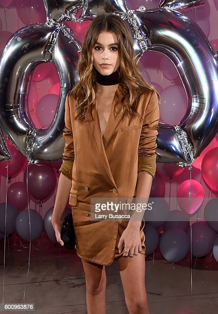 Kaia Jordan Gerber attends the Jimmy Choo 20th Anniversary Event during New York Fashion Week on September 8 2016 in New York City
