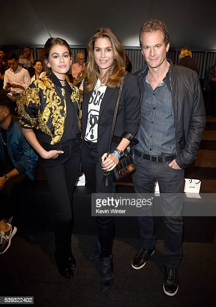 Kaia Jordan Gerber Model Cindy Crawford and Rande Gerber attend the Moschino Spring/Summer 17 Menswear and Women's Resort Collection during MADE LA...