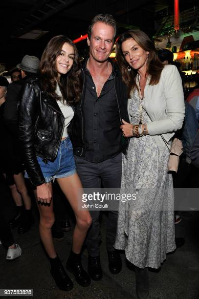Kaia Jordan Gerber Rande Gerber and Cindy Crawford attend Spotify's 'Louder Together' event celebrating the first ever collaborative Spotify single...