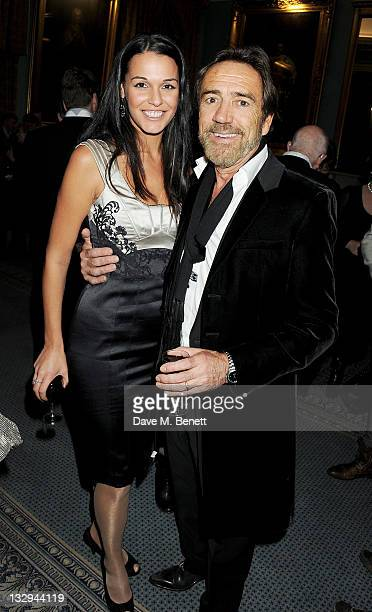 Kaiane Aldorino and Robert Lindsay attend an after party following the Press Night performance of 'The Lion In Winter' at The Institute of Directors...