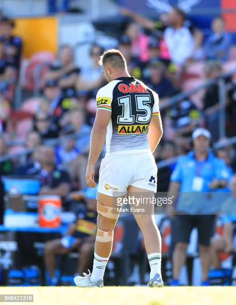 Kaide Ellis of the Panthers is sinbinned during the round six NRL match between the Penrith Panthers and the Gold Coast Titans on April 15 2018 in...