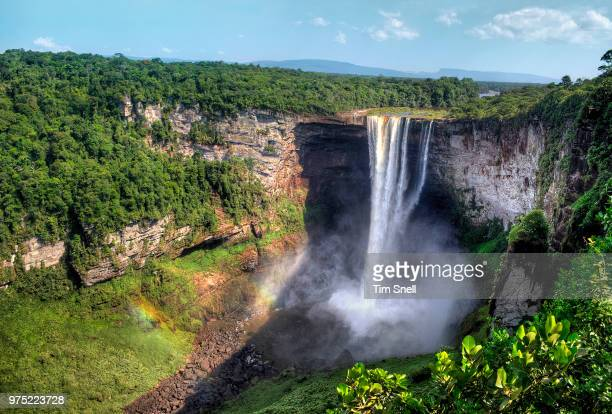 kaieteur falls, potaro-siparuni, guyana - guyana stock pictures, royalty-free photos & images