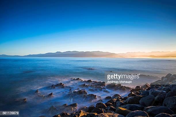 Kaikoura coastline at dusk