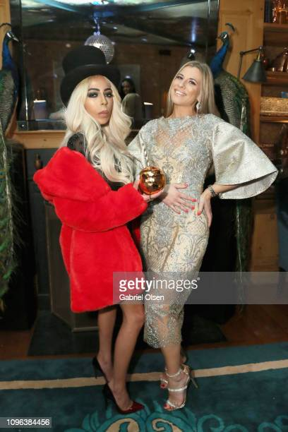 Kaila Methven and BASIC Magazine founder and EditorinChief Viktorija Pashuta attend Basic Magazine and HER PreGrammy Party at the Private Residence...