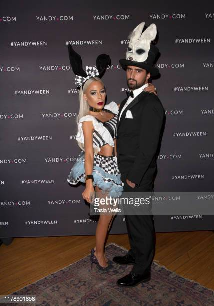 Kaila Methven and guest attend the Yandy Halloween Event at Carondelet House on October 03 2019 in Los Angeles California