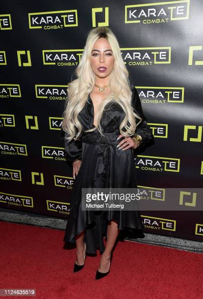 Kaila Methven attends the Karate Combat Hollywood livestreaming karate competition at Avalon on January 24 2019 in Hollywood California