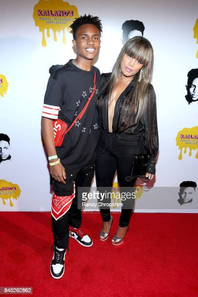 Kailand Morris and Kai Milla Morris attend Kailand's Swaggy 16th birthday party at Belasco Theatre on September 9 2017 in Los Angeles California