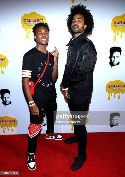Kailand Morris and Kwame Morris attend Kailand's Swaggy 16th birthday party at Belasco Theatre on September 9 2017 in Los Angeles California