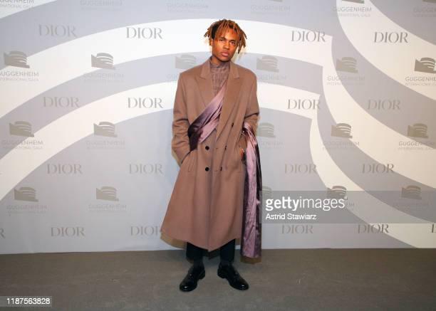 Kailand Morris attends 2019 Guggenheim International Gala PreParty at Solomon R Guggenheim Museum on November 13 2019 in New York City