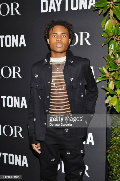 Kailand Morris attends Dior Celebrates Pusha T Daytona Rap Album Of The Year Hosted By Steven Victor at Dior Men's Boutique on February 08 2019 in...