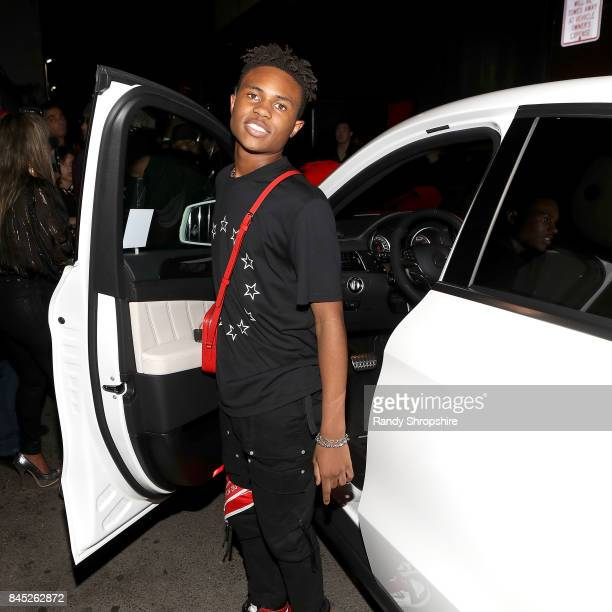 Kailand Morris attends Kailand's Swaggy 16th birthday party at Belasco Theatre on September 9 2017 in Los Angeles California