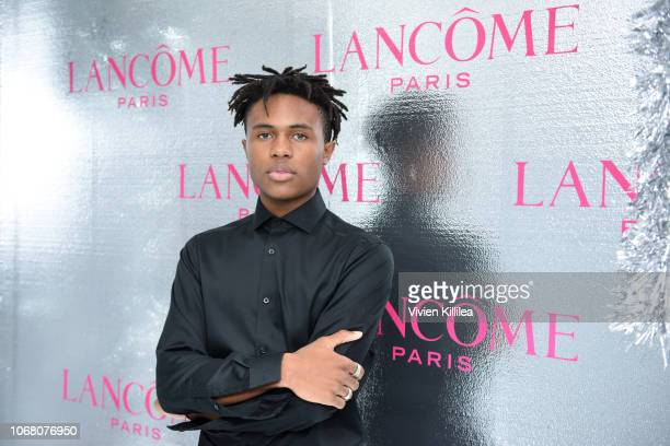 Kailand Morris attends Lancôme x Vogue Holiday Event at Delilah West Hollywood on November 29 2018 in West Hollywood California