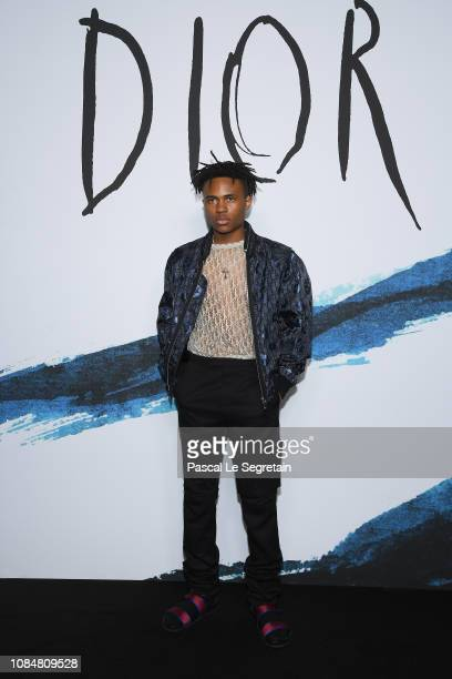 Kailand Morris attends the Dior Homme Menswear Fall/Winter 20192020 show as part of Paris Fashion Week on January 18 2019 in Paris France