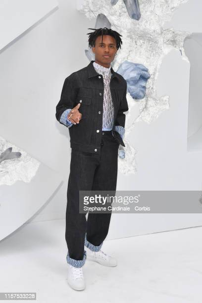 Kailand Morris attends the Dior Homme Menswear Spring Summer 2020 show as part of Paris Fashion Week on June 21 2019 in Paris France
