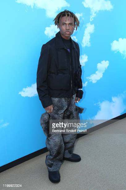 Kailand Morris attends the Louis Vuitton Menswear Fall/Winter 20202021 show as part of Paris Fashion Week on January 16 2020 in Paris France