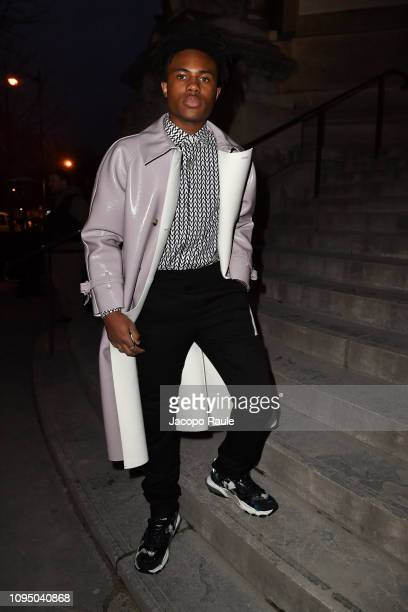 Kailand Morris attends the Valentino Menswear Fall/Winter 20192020 show as part of Paris Fashion Week on January 16 2019 in Paris France