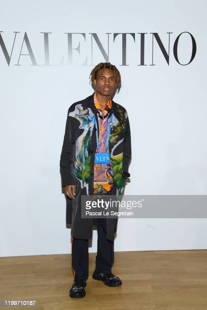 Kailand Morris attends the Valentino Menswear Fall/Winter 2020-2021 show as part of Paris Fashion Week on January 15, 2020 in Paris, France.