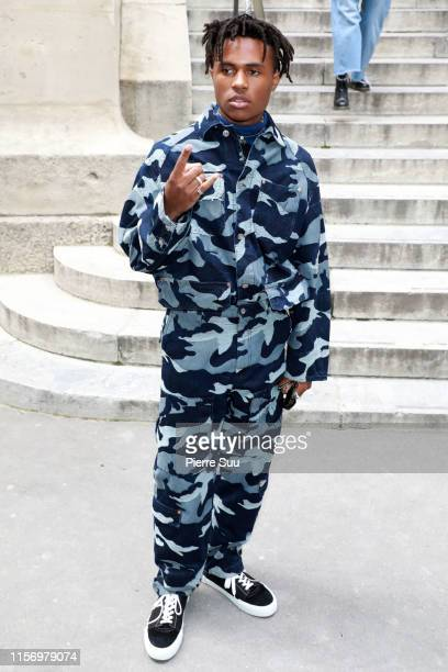 Kailand Morris attends the Valentino Menswear Spring Summer 2020 show as part of Paris Fashion Week on June 19 2019 in Paris France
