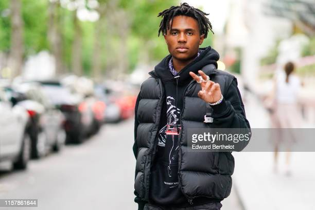 Kailand Morris is seen outside VOS party during Paris Fashion Week Menswear Spring/Summer 2020 on June 23 2019 in Paris France