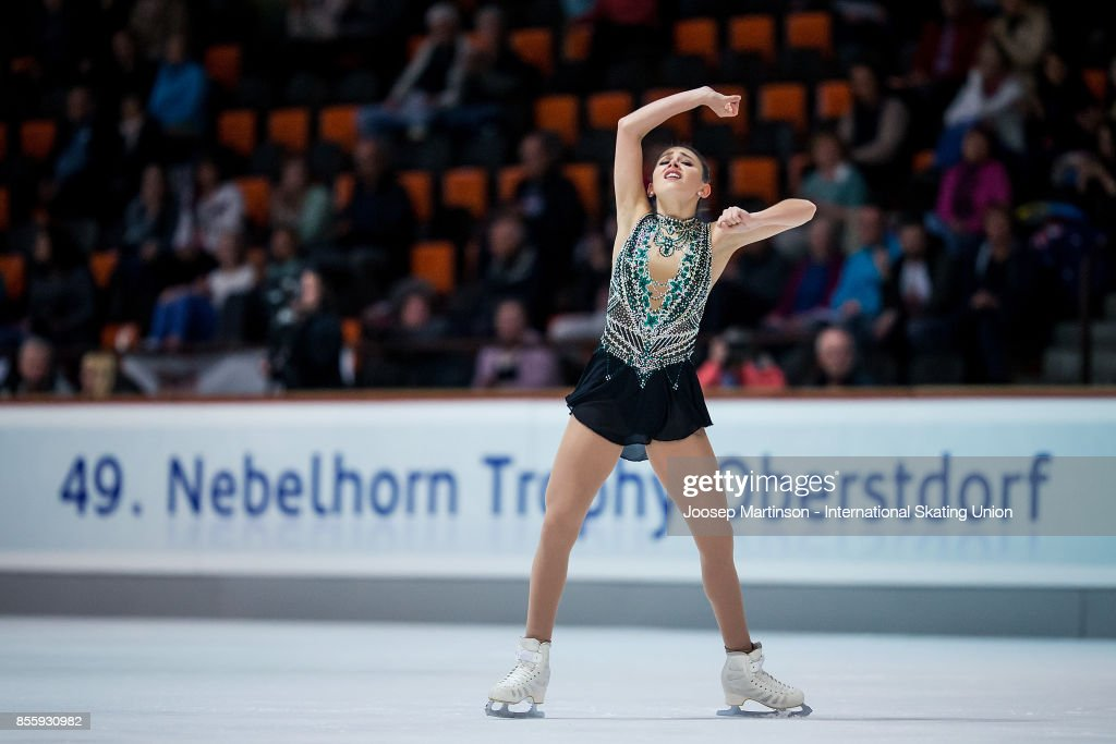 Kailani Craine of Australia competes in the Ladies Free Skating during the Nebelhorn Trophy 2017 at Eissportzentrum on September 30, 2017 in Oberstdorf, Germany.
