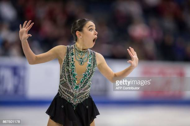 Kailani Craine of Australia performs her free program at the 2017 Skate Canada International ISU Grand Prix event in Regina Saskatchewan Canada on...