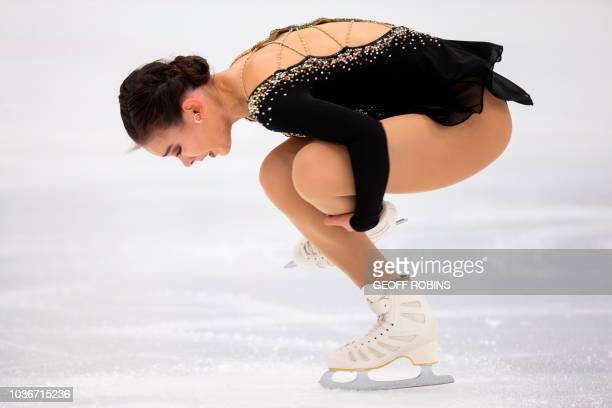 Kailani Craine of Australia skates her short program in the ladies competition at the 2019 Skate Canada Autumn Classic event in Oakville Ontario on...