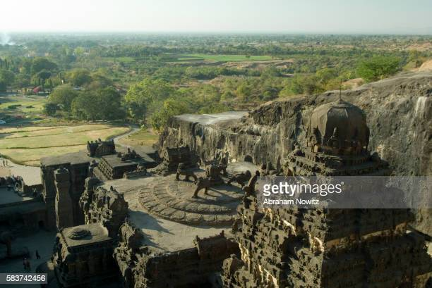 kailasa temple in the ellora caves complex - ellora stock pictures, royalty-free photos & images