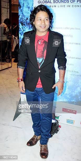 Kailash Kher during a press conference for the upcoming Global Sounds of Peace concert in Mumbai on January 24 2013