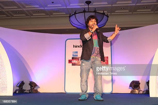 Kailash Kher performing at HT City Crystal Awards being held at Maurya Sheraton Hotel on October 29 2010 in New Delhi India