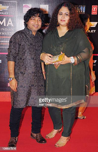 Kailash Kher with his wife during the Global Indian Music Awards function in Mumbai on Wednesday November 10 2010