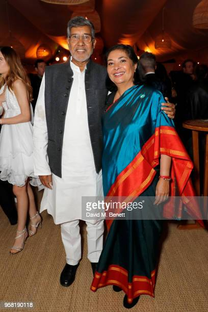 Kailash Satyarthi and Meher Tatna attend the HFPA Event with Particpant Media to Honor the Kailash Satyarthi Children's Foundation in partnership...