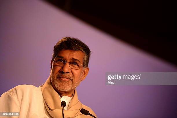 Kailash Satyarthi Indian children's rights advocate and an activist against child labour Nobel Peace prize laureate at Hindustan Times Leadership...