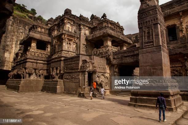 kailasha temple, hindu caves at ellora caves, maharashtra, india - ellora stock pictures, royalty-free photos & images