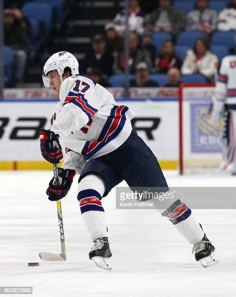 Kailer Yamamoto of United States in the first period against Finland during the IIHF World Junior Championship at KeyBank Center on December 31 2017...