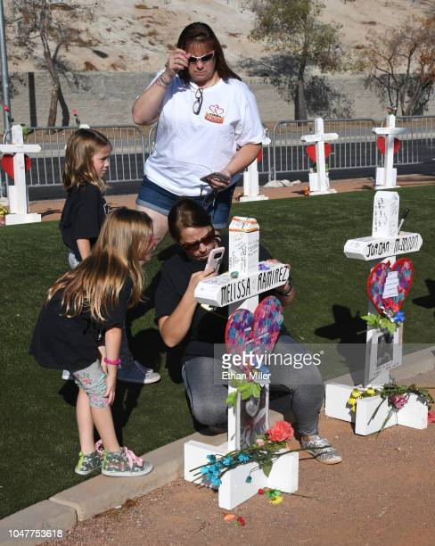 Kailey Briggs and Avalynn Briggs both 7 of Washington and their grandmother Kit York of Nevada look on as York's daughter Nichole Briggs of...