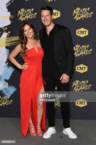 Kailey Dickerson and Russell Dickerson attend the 2018 CMT Music Awards at Bridgestone Arena on June 6 2018 in Nashville Tennessee