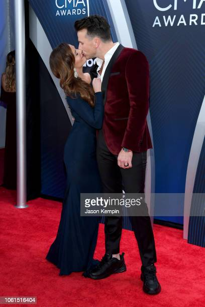 Kailey Dickerson and singersongwriter Russell Dickerson attends the 52nd annual CMA Awards at the Bridgestone Arena on November 14 2018 in Nashville...