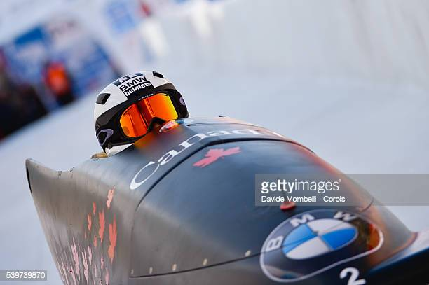 Kaillie Lotholz Melissa in action during the start BMW IBSF World Cup Bob 2 women 2015/2016 St Moritz Swiss