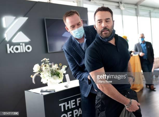 Kailo Founder Stuart Fetzer and Jeremy Piven attend the EON Mist Sanitizer Pre-Oscars Lounge presented by GBK Brand Bar at La Peer Hotel on April 23,...