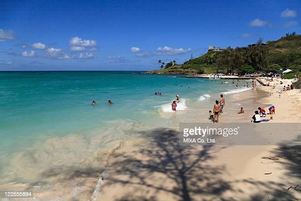 kailua beach, hawaii, u.s.a. - kailua beach stock photos and pictures
