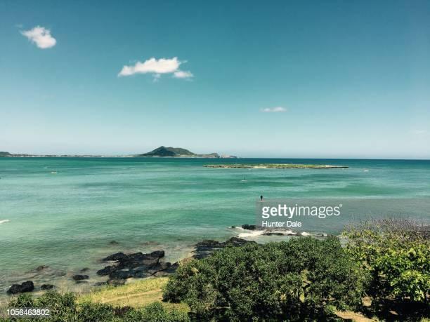 kailua beach, hi - kailua beach stock photos and pictures